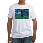 Lilies / Schipperke #4 Fitted T-Shirt