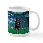 Lilies / Schipperke #4 Mug