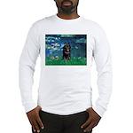 Lilies / Schipperke #4 Long Sleeve T-Shirt