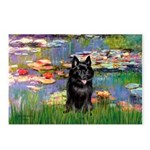 Lilies / Schipperke #4 Postcards (Package of 8)