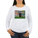 Lilies / Schipperke #4 Women's Long Sleeve T-Shirt