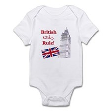 British Kids Rule Infant Bodysuit