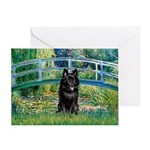 Bridge / Schipperke #4 Greeting Card