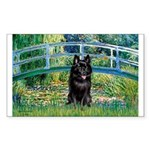 Bridge / Schipperke #4 Sticker (Rectangle)