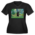 Bridge / Schipperke #4 Women's Plus Size V-Neck Da