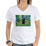 Bridge / Schipperke #4 Women's V-Neck T-Shirt