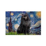 Starry / Schipperke #2 Rectangle Magnet