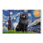 Starry / Schipperke #2 Sticker (Rectangle)