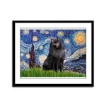Starry / Schipperke #2 Framed Panel Print