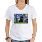 Starry / Schipperke #2 Women's V-Neck T-Shirt