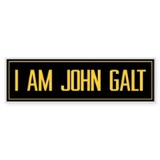 """I AM JOHN GALT"" BumperSticker (10 pack)"