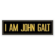"""I AM JOHN GALT"" Bumper Car Sticker"