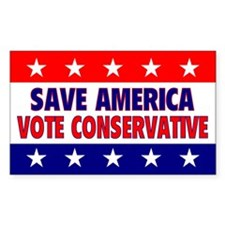 Save America Rectangle Decal
