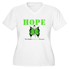 NonHodgkinsHopeButterfly Women's Plus Size V-Neck