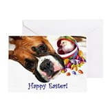 Easter Boxer Dog Greeting Card