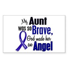 Angel 1 AUNT Colon Cancer Rectangle Decal