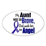Angel 1 AUNT Colon Cancer Oval Sticker (10 pk)