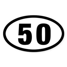 50 mile Ultrarunning sticker