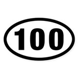 100 Mile Ultrarunning Decal