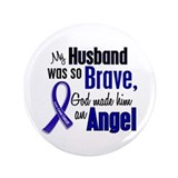 Angel 1 HUSBAND Colon Cancer 3.5&quot; Button