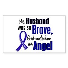 Angel 1 HUSBAND Colon Cancer Rectangle Decal