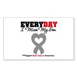 Brain Cancer Son Rectangle Sticker 10 pk)