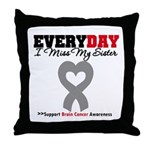 Brain Cancer Sister Throw Pillow