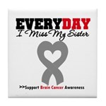 Brain Cancer Sister Tile Coaster