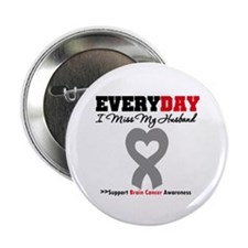 "Brain Cancer Husband 2.25"" Button (10 pack)"
