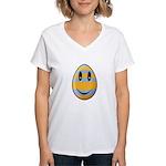 Smiley Easter Egg Women's V-Neck T-Shirt