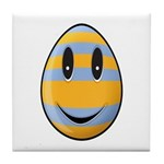 Smiley Easter Egg Tile Coaster