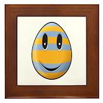 Smiley Easter Egg Framed Tile