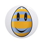 Smiley Easter Egg Round Ornament (Round)