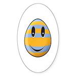 Smiley Easter Egg Oval Sticker (10 pk)