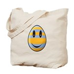 Smiley Easter Egg Tote Bag