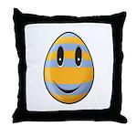 Smiley Easter Egg Throw Pillow