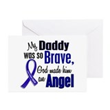 Angel 1 DADDY Colon Cancer Greeting Cards (Pk of 1