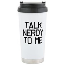 Talk Nerdy Ceramic Travel Mug