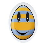 Smiley Easter Egg Oval Ornament (Oval)