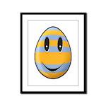 Smiley Easter Egg Framed Panel Print