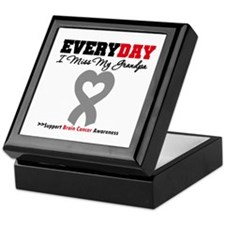 Brain Cancer Grandpa Keepsake Box