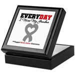 Brain Cancer Grandma Keepsake Box