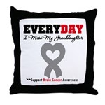 Brain Cancer Granddaughter Throw Pillow