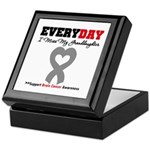 Brain Cancer Granddaughter Keepsake Box