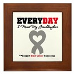 Brain Cancer Granddaughter Framed Tile