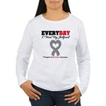 Brain Cancer Girlfriend Women's Long Sleeve T-Shir
