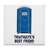 Triathlete's Best Friend Tile Coaster