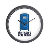 Triathlete's Best Friend Wall Clock