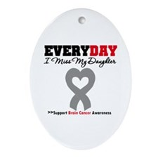 Brain Cancer Daughter Oval Ornament