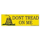Dont tread on me Bumper Car Sticker